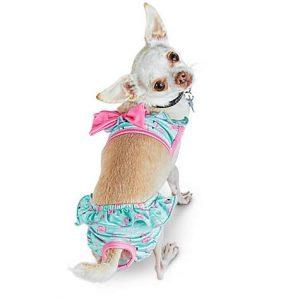 Bond & Co Flamingo Print Dog Bikini, 3X-Small