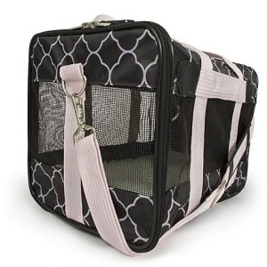 Sherpa Original Deluxe Pet Carrier Black/Pink, Medium