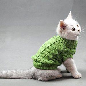 Turtleneck Pet Cats Sweater